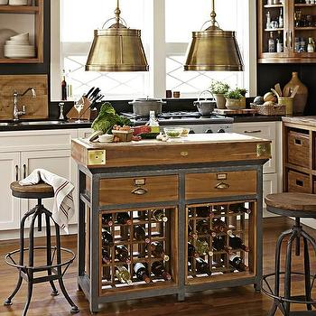 French Chef's Kitchen Island with Drawers