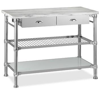Modular Kitchen Island Polished Nickel