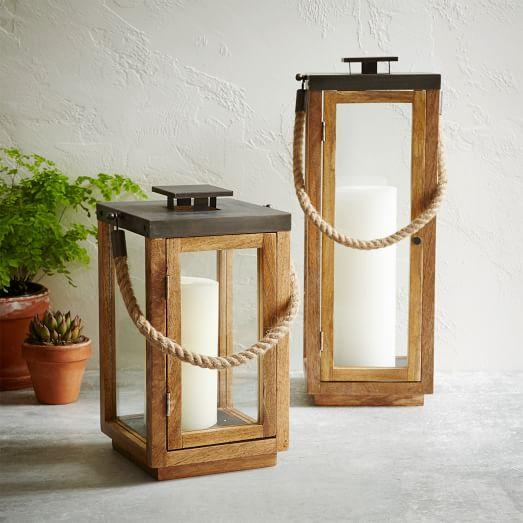 Brown Wood And Rope Lantern