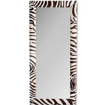 Zebra Hide Floor Mirror