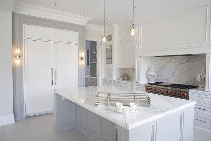 Statuario Marble Kitchen Countertops Contemporary Kitchen