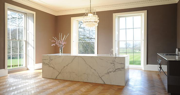 Kitchen with Ornate Crown Moldings - Contemporary - Kitchen