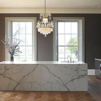 Marble Slab Kitchen Island
