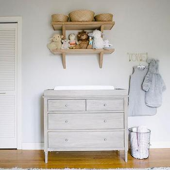 Nursery with French Changing Table, Transitional, Nursery