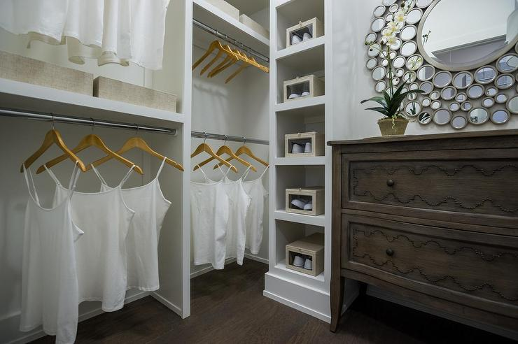 walk in closet with freestanding dresser transitional