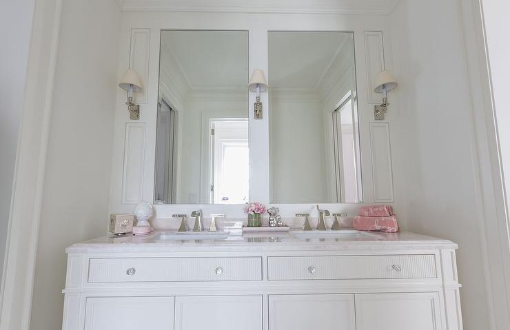 Beautiful Pink And Cream S Bathroom