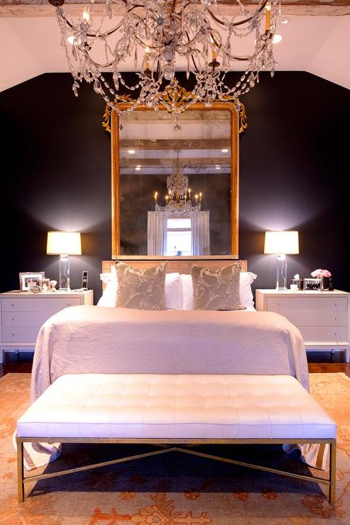 French Bedroom With Black Walls French Bedroom