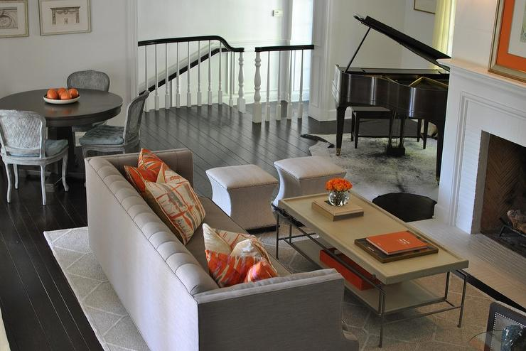 Delicieux Gray And Orange Living Rooms View Full Size