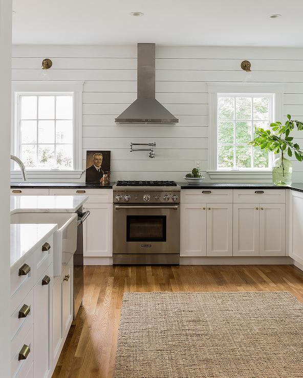 kitchen with horizontal shiplap backsplash cottage kitchen slate backsplash falling water design work and