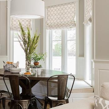 Metal breakfast nook chairs design ideas for Bay window breakfast nook