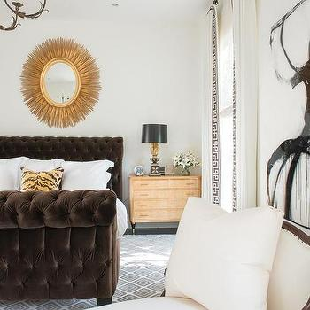 Brown and Gold Bedrooms, Transitional, Bedroom