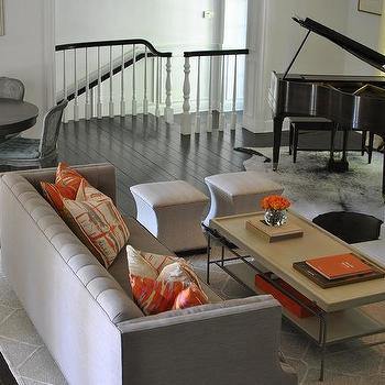 Gray And Orange Living Rooms Part 39