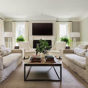 Linen Slipcovered Sofa Design Ideas