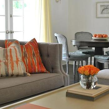 Living room design decor photos pictures ideas for Grey orange living room