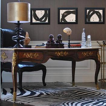 Attirant Office With Ornate French Desk