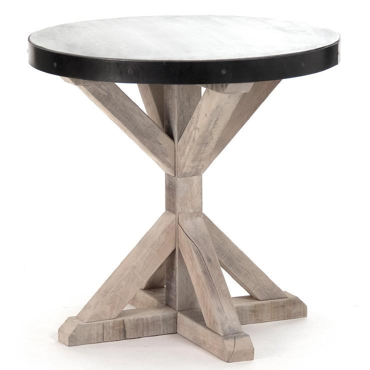 Brand-new Oleg Side Grey Washed Table ZW38