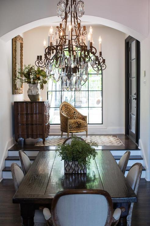 Sunken Foyer Home Decor : Dining rooms french foyer table design ideas