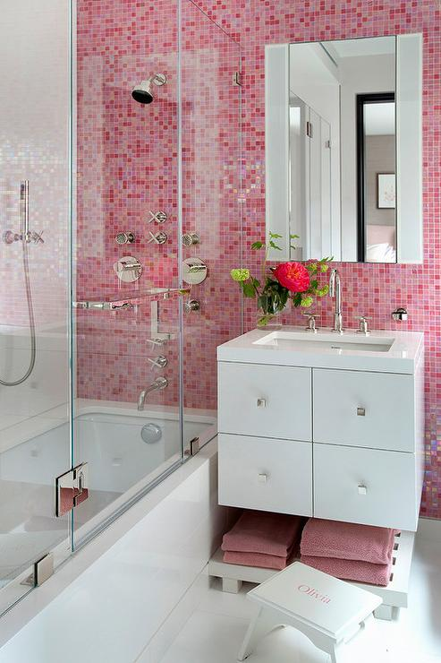 Pink Bathroom Tiles View Full Size