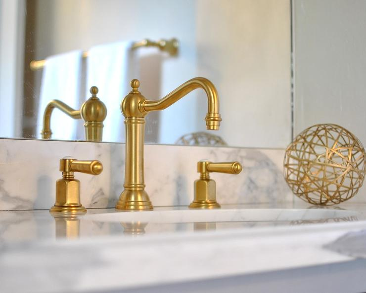White and gold bathrooms transitional bathroom for White and gold bathroom accessories