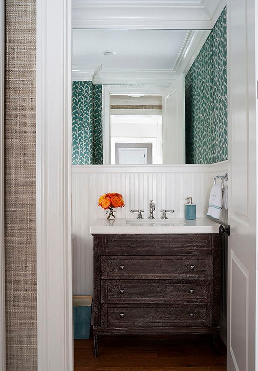 Amazing Brown Dresser Like Bathroom Vanity View Full Size