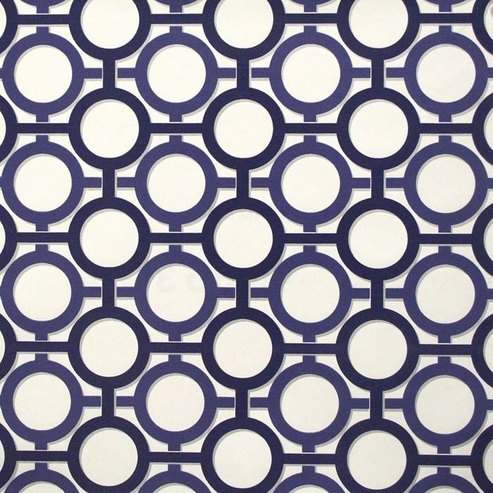 Enigma Wallpaper In White And Prussian Blue Design By