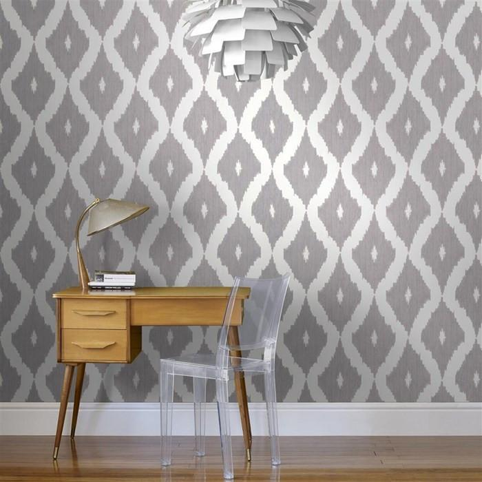 kellys white and grey ikat wallpaper