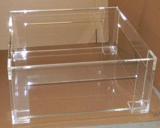 Lucite Clear Coffee Table With Shelf
