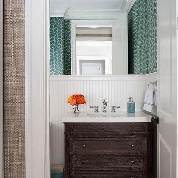 Brown Dresser Like Bathroom Vanity