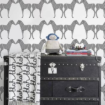 Zee Wallpaper in Charcoal by Sissy + Marley for Jill Malek