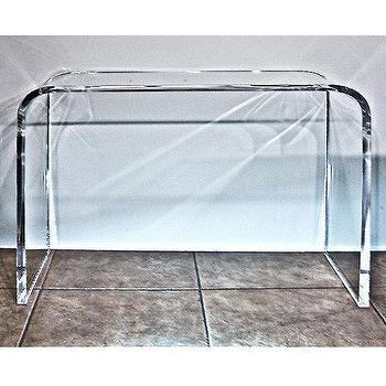 Lucite Table, Waterfall Acrylic Console