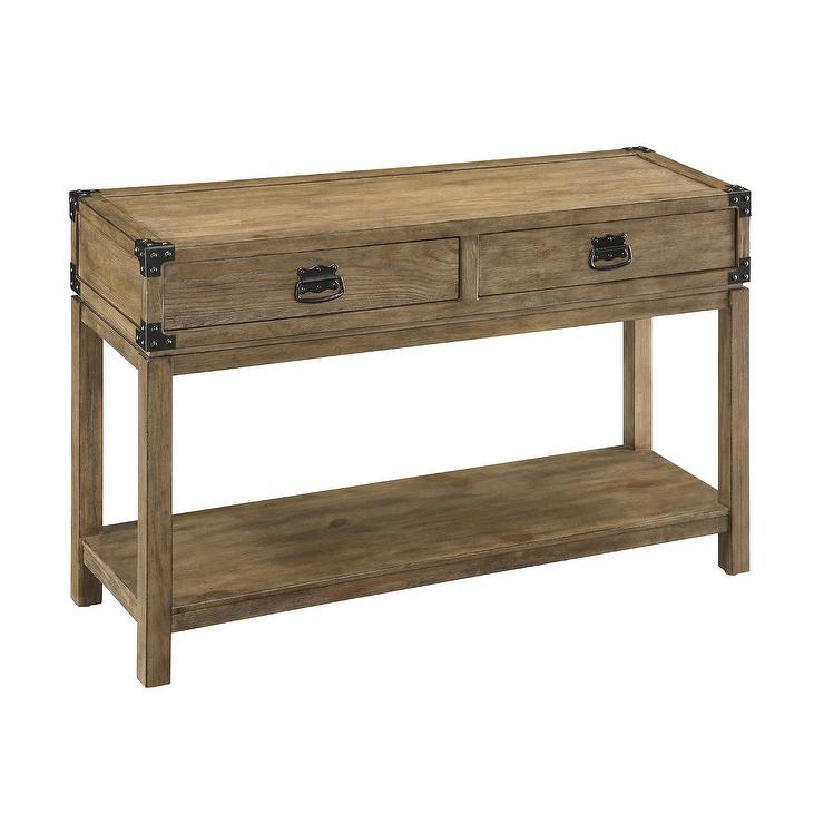 Rustic 3 drawers natural wood console table - Table vitroceramique 3 foyers ...