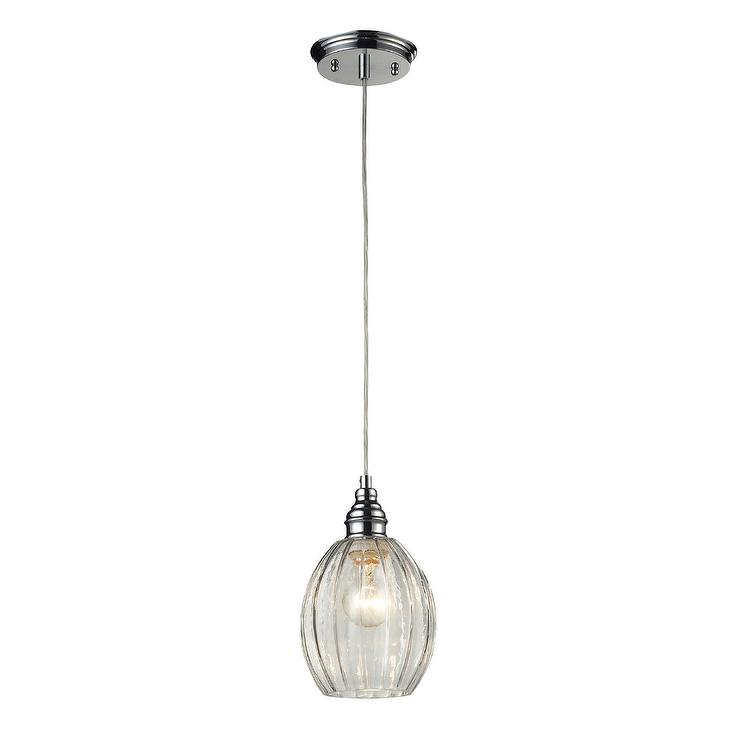 Danica one light clear glass and polished chrome round mini pendant aloadofball Image collections
