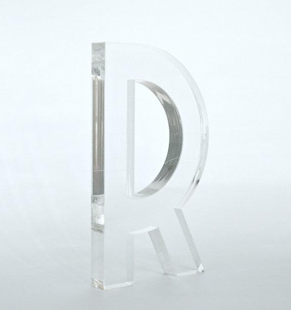 clear lucite letters With lucite letters