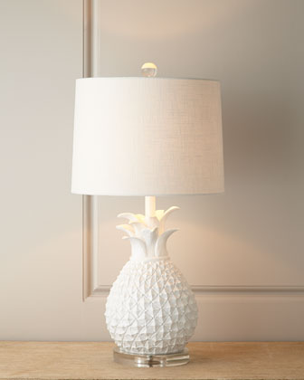 Horchow White Pineapple Lamp Look for Less