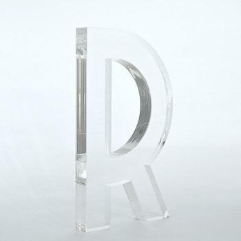 Clear Lucite Letters