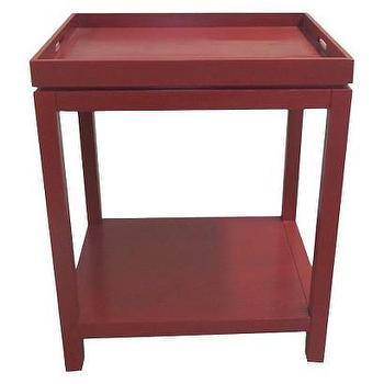 Red Chinoiserie Tray Table Gump S San Francisco