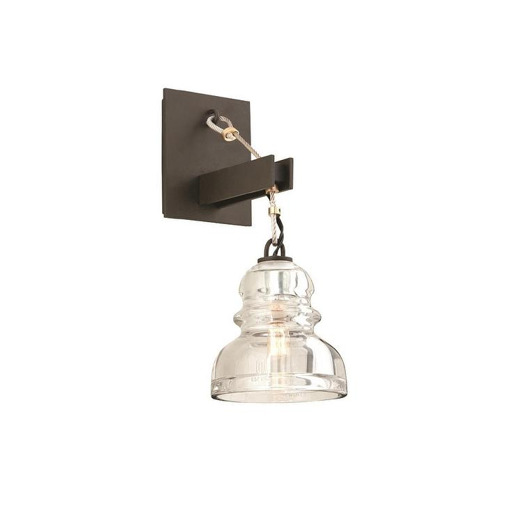 One Light Bronze Wall Sconce view full sizeTroy Lighting Gramercy 1 Light Silver Wall Sconce. Bathroom 1 Light Sconces. Home Design Ideas