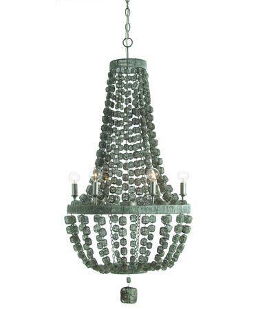 Clear hanging beads six light chandelier arteriors home jada silver chandelier aloadofball Choice Image