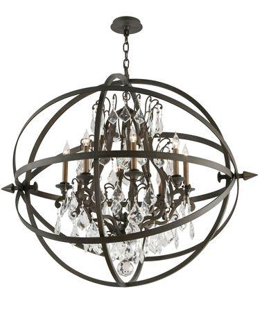 Visual comfort studio 6 light armillary sphere silver chandelier troy lighting byron bronze chandelier aloadofball Image collections