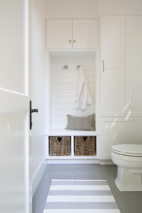 Mudroom bathroom combo transitional bathroom for Small pool house with bathroom