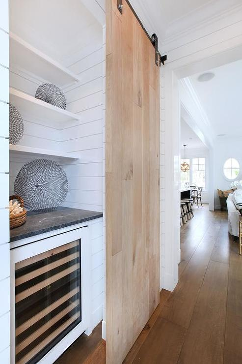 Butler Pantry with Barn Door, Transitional, Kitchen
