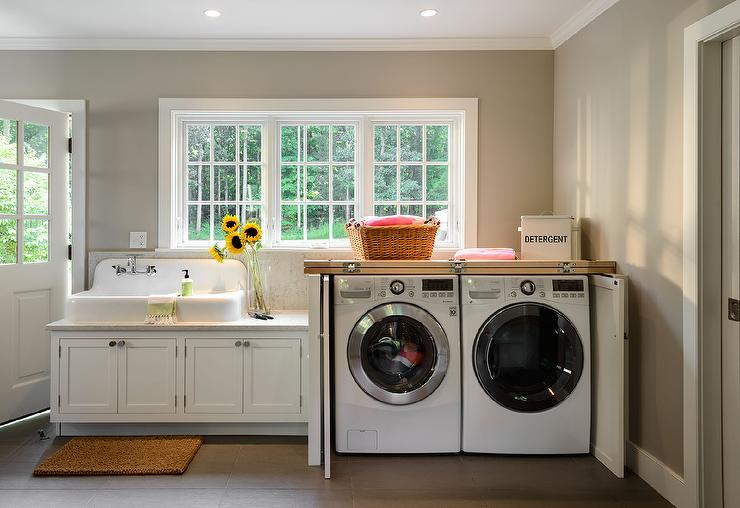 Washer Dryer Under Windows Design Ideas