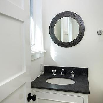 Black And White Nautical Bathroom