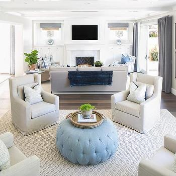 blue print wingback living room chairs design ideas