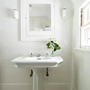 Bathroom with Vintage Pedestal Sink, Cottage, Bathroom