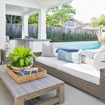teak outdoor coffee table design ideas