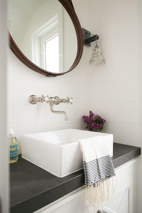 Top Mount Bathroom Sink Floating Vanity