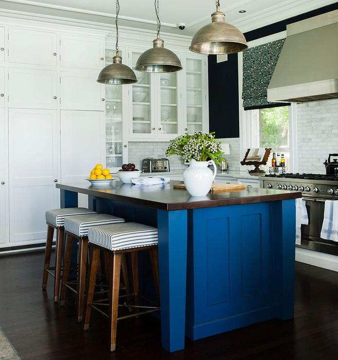 95 navy blue kitchen white cabinets navy kitchen for Best brand of paint for kitchen cabinets with glass wall art for sale
