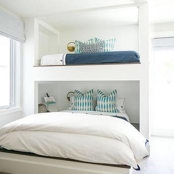 Beach Cottage Kids Room With Built In Beds