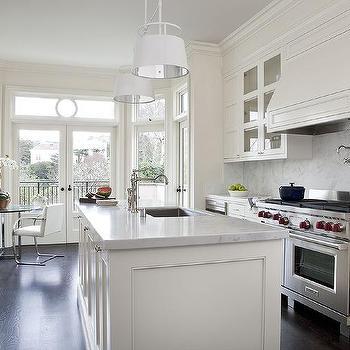 Cream Kitchen Cabinets White Marble Countertop Design Ideas